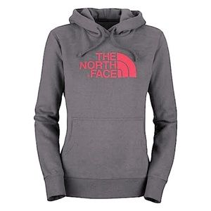 THE NORTH FACE Gray Pink Soft Hoodie Pullover